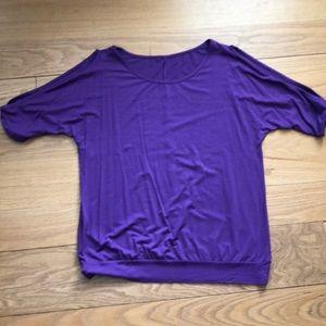 Tops - Purple Cold Shoulder Top